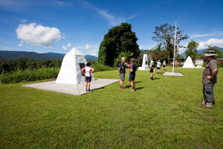 Memorials to the fallen soldiers, Kokoda Village, Papua New Guinea.
