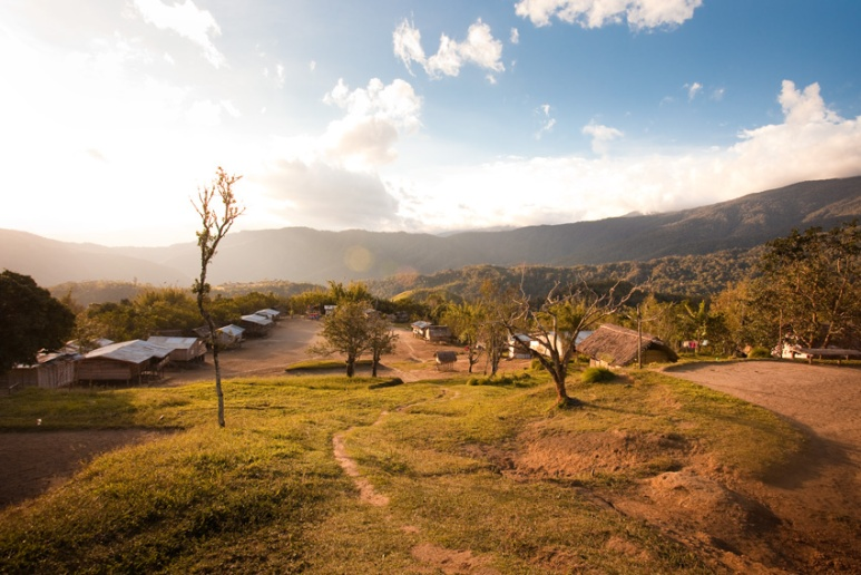 View overlooking Naduri Village towards Kagi, Kokoda Track.