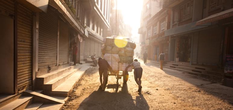 Early morning start to the Markets, Kathmandu Nepal