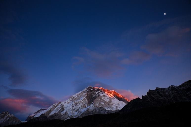 Lhotse Nupste Ridge at Sunset