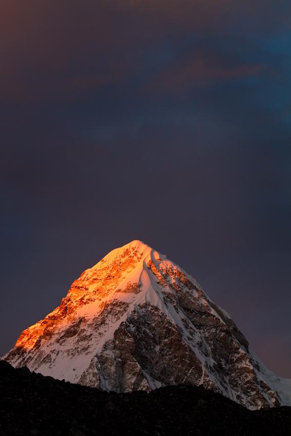 Pumori at sunset, Nepal