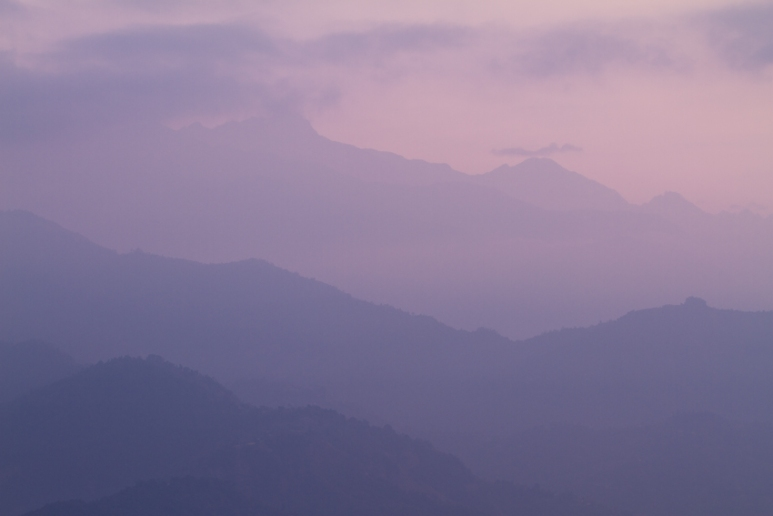 Sunrise Near Pokhara, Nepal