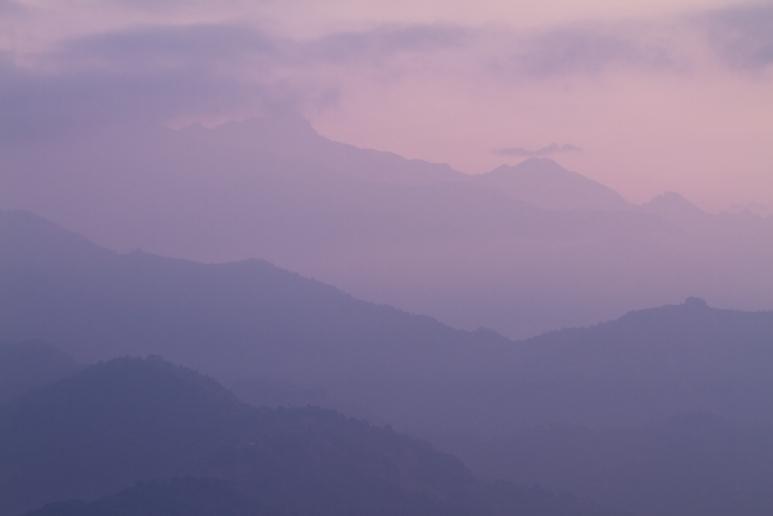 Sunrise Near Pokhara, Nepal